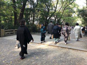 きもの、着物、お出かけ、熱田神宮